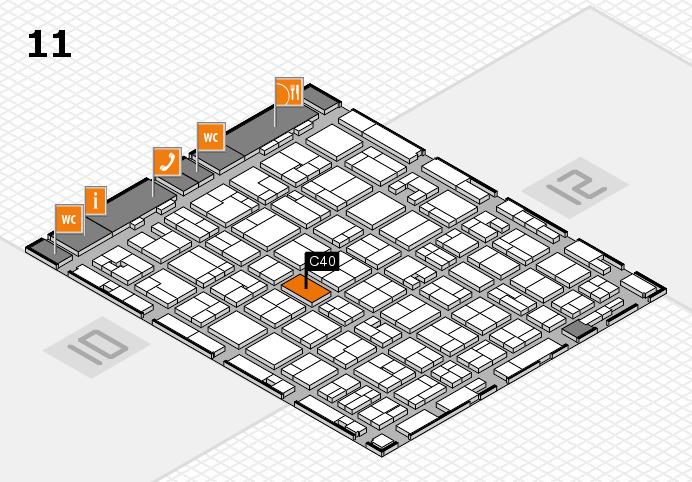 MEDICA 2016 hall map (Hall 11): stand C40