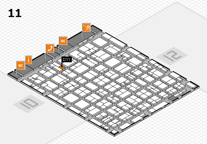 MEDICA 2016 hall map (Hall 11): stand D11