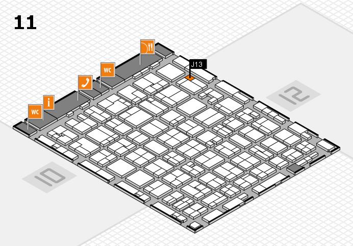 MEDICA 2016 hall map (Hall 11): stand J13