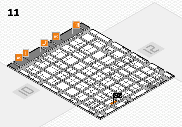 MEDICA 2016 hall map (Hall 11): stand C75