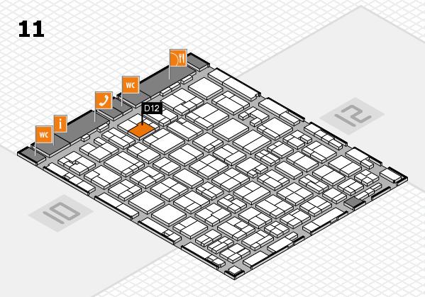 MEDICA 2016 hall map (Hall 11): stand D12