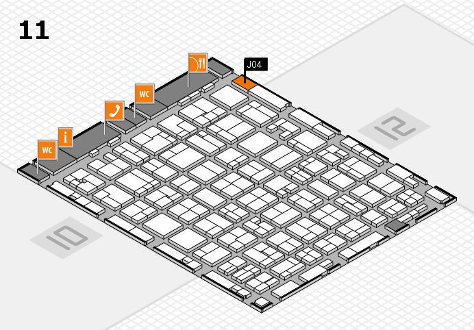 MEDICA 2016 hall map (Hall 11): stand J04