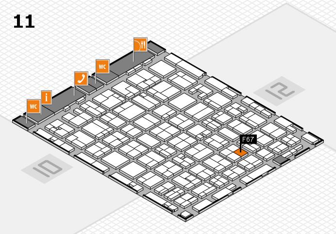 MEDICA 2016 hall map (Hall 11): stand F67
