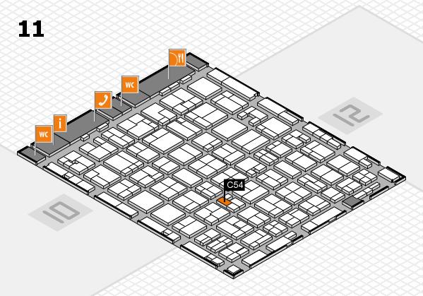 MEDICA 2016 hall map (Hall 11): stand C54