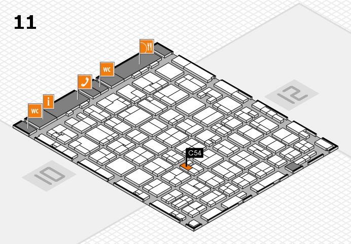 MEDICA 2016 Hallenplan (Halle 11): Stand C54