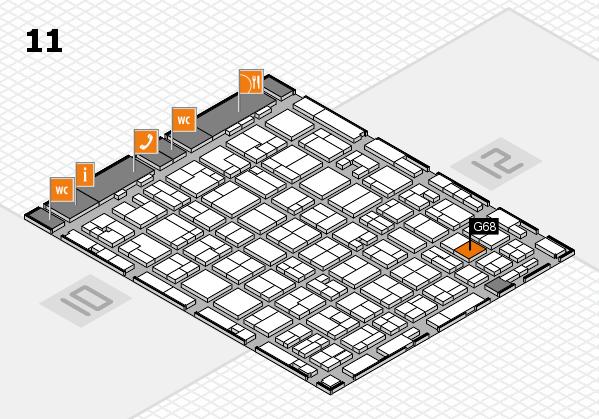 MEDICA 2016 hall map (Hall 11): stand G68