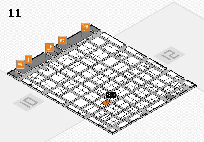 MEDICA 2016 hall map (Hall 11): stand C55