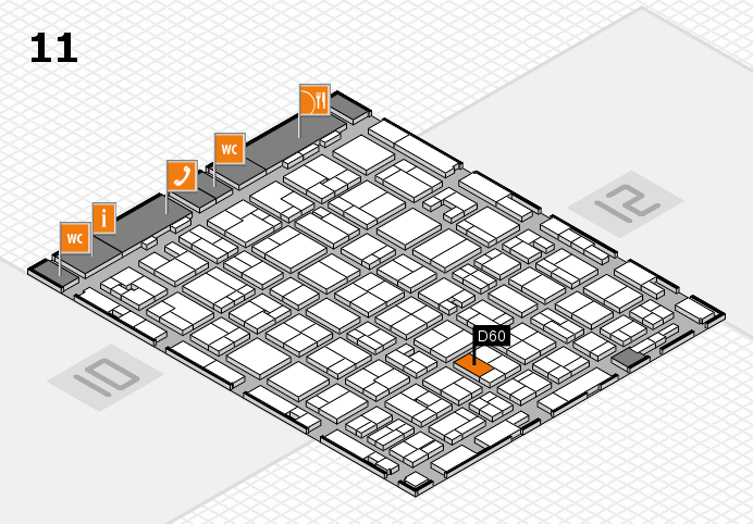 MEDICA 2016 hall map (Hall 11): stand D60