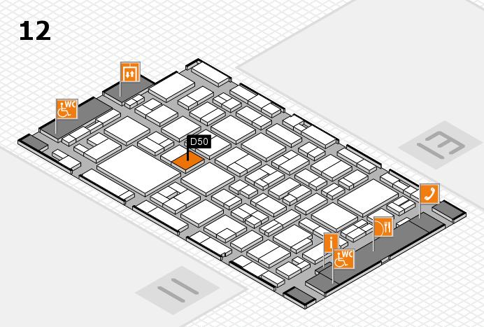 MEDICA 2016 hall map (Hall 12): stand D50