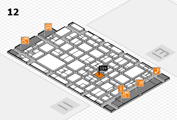 MEDICA 2016 hall map (Hall 12): stand D24