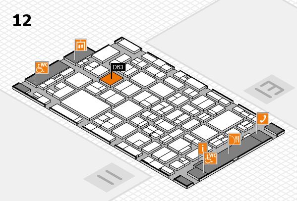 MEDICA 2016 hall map (Hall 12): stand D63