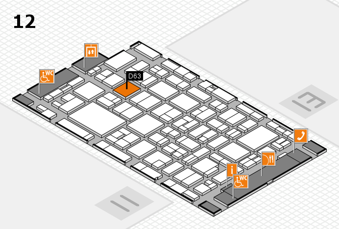 MEDICA 2016 hall map (Hall 12): stand D63