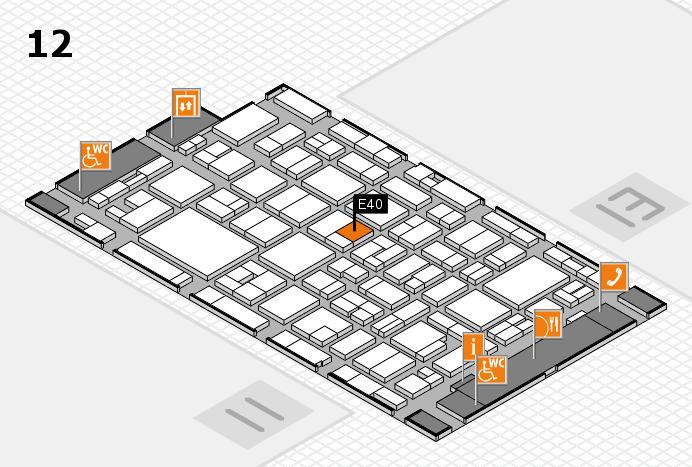 MEDICA 2016 Hallenplan (Halle 12): Stand E40