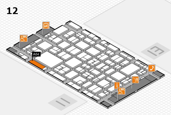 MEDICA 2016 Hallenplan (Halle 12): Stand A64