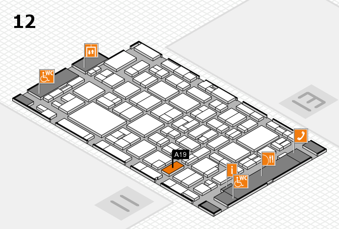 MEDICA 2016 hall map (Hall 12): stand A19