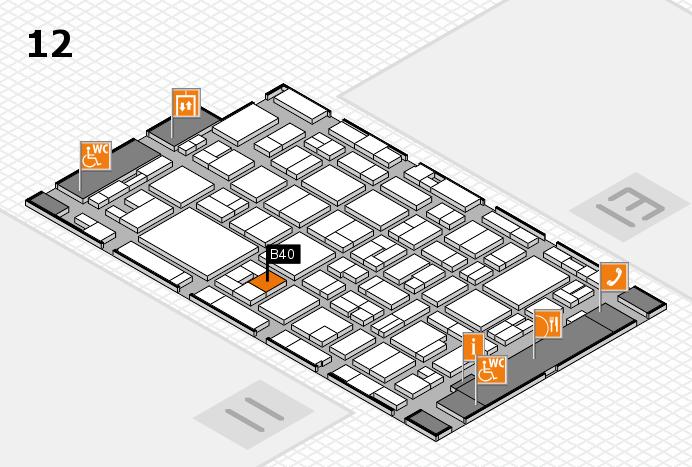 MEDICA 2016 hall map (Hall 12): stand B40