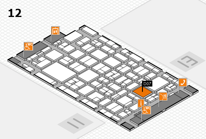 MEDICA 2016 hall map (Hall 12): stand D07