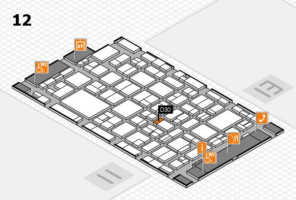 MEDICA 2016 hall map (Hall 12): stand D30