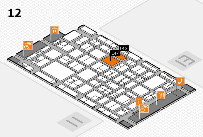 MEDICA 2016 hall map (Hall 12): stand E47, stand F46