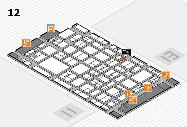 MEDICA 2016 hall map (Hall 12): stand F34