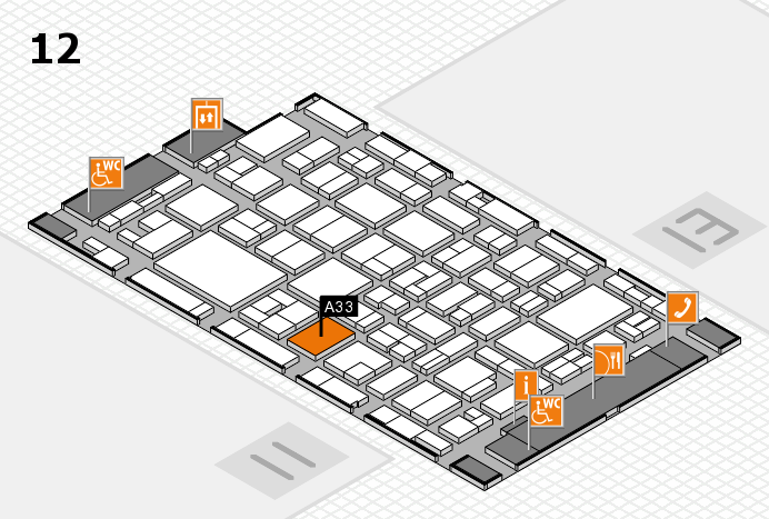 MEDICA 2016 hall map (Hall 12): stand A33
