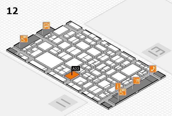 MEDICA 2016 hall map (Hall 12): stand A33