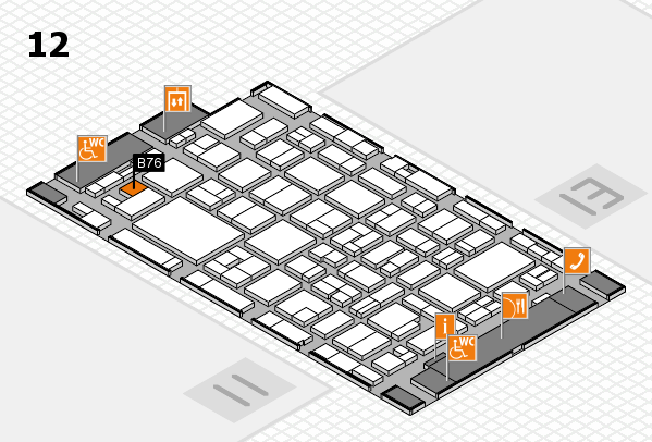 MEDICA 2016 Hallenplan (Halle 12): Stand B76