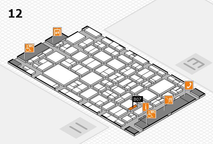 MEDICA 2016 hall map (Hall 12): stand B07