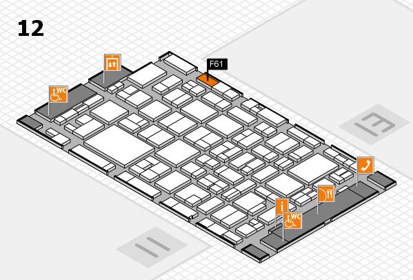 MEDICA 2016 hall map (Hall 12): stand F61