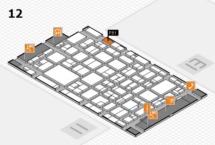 MEDICA 2016 Hallenplan (Halle 12): Stand F61