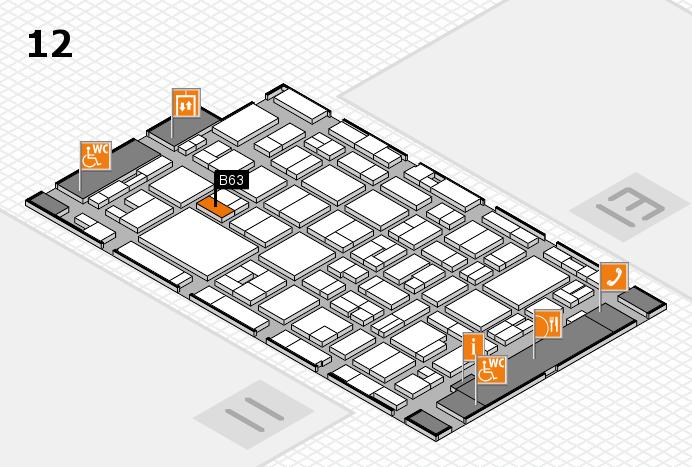 MEDICA 2016 hall map (Hall 12): stand B63