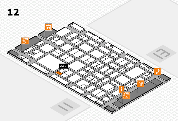 MEDICA 2016 hall map (Hall 12): stand A47