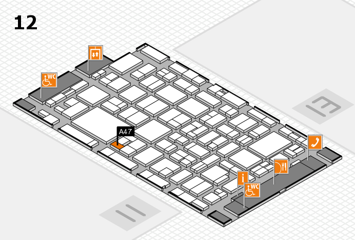 MEDICA 2016 hall map (Hall 12): stand A47