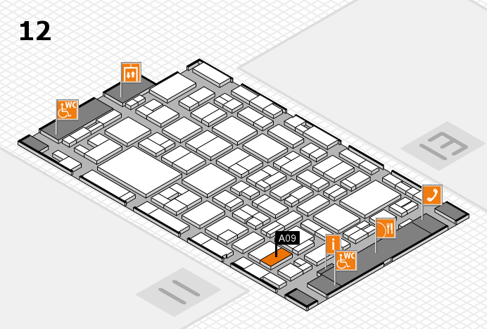 MEDICA 2016 hall map (Hall 12): stand A09