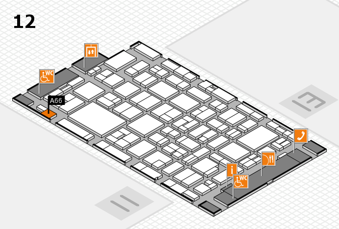 MEDICA 2016 hall map (Hall 12): stand A66