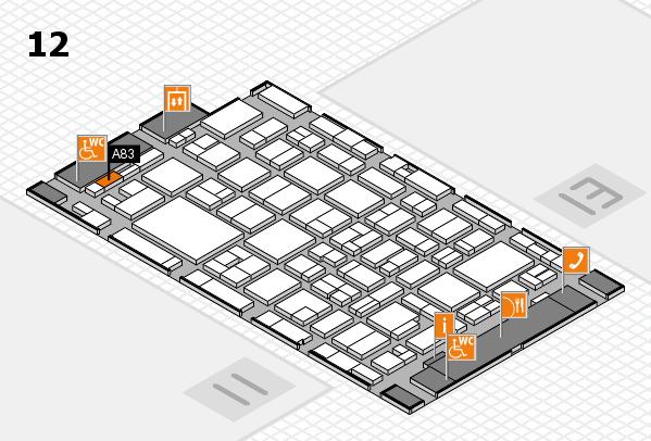 MEDICA 2016 Hallenplan (Halle 12): Stand A83