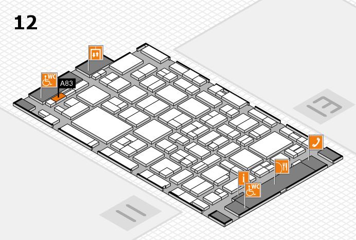 MEDICA 2016 hall map (Hall 12): stand A83