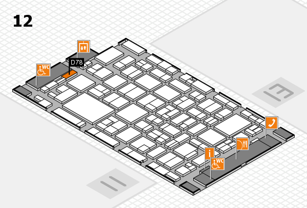 MEDICA 2016 hall map (Hall 12): stand D78