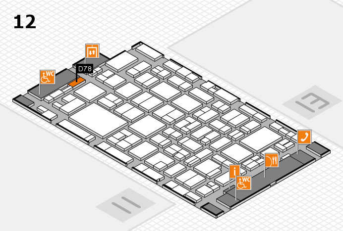 MEDICA 2016 hall map (Hall 12): stand D78