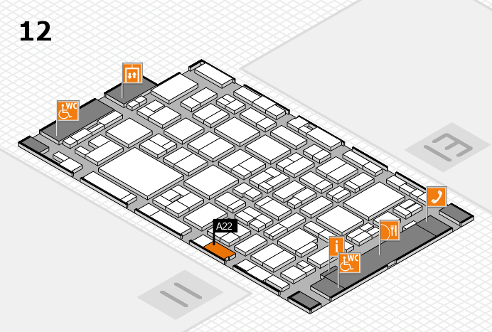 MEDICA 2016 hall map (Hall 12): stand A22