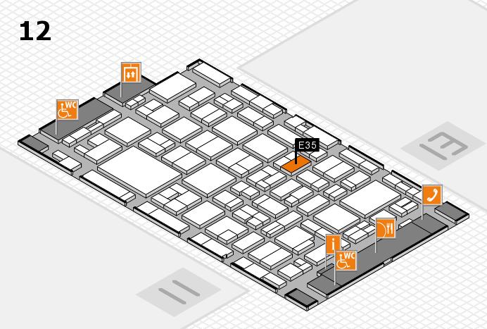 MEDICA 2016 hall map (Hall 12): stand E35