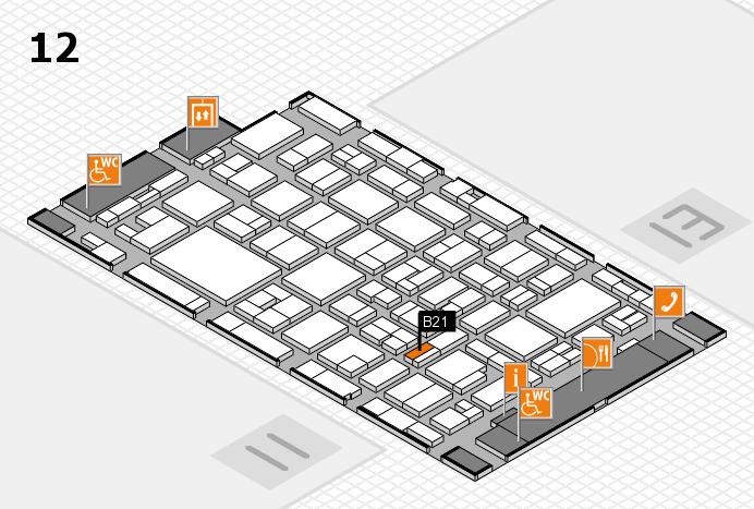 MEDICA 2016 hall map (Hall 12): stand B21