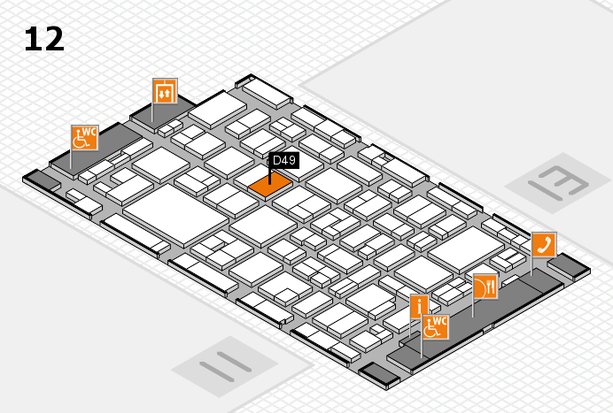 MEDICA 2016 hall map (Hall 12): stand D49