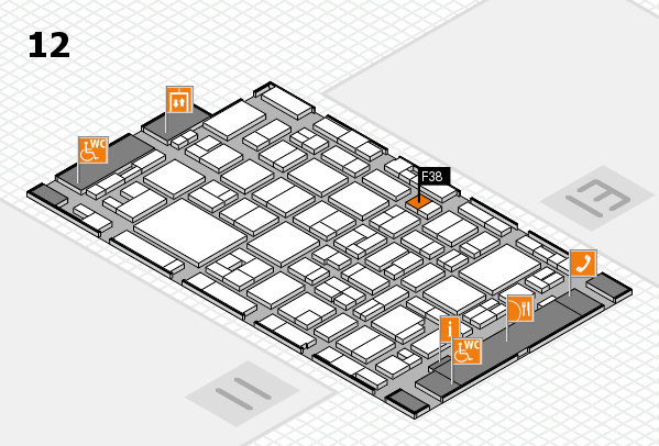 MEDICA 2016 hall map (Hall 12): stand F38