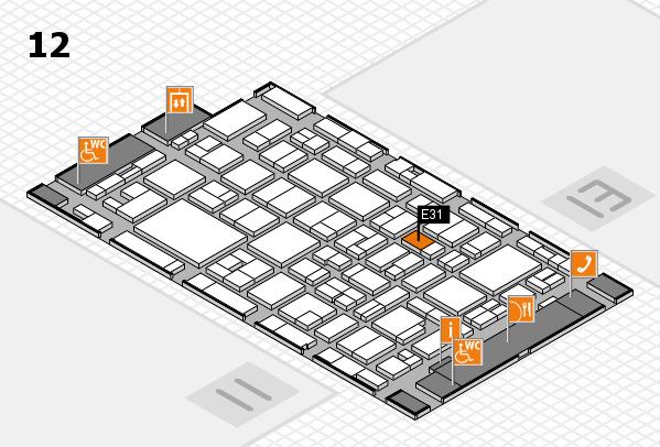 MEDICA 2016 hall map (Hall 12): stand E31