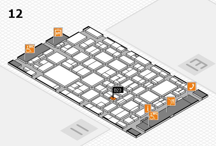MEDICA 2016 hall map (Hall 12): stand B23