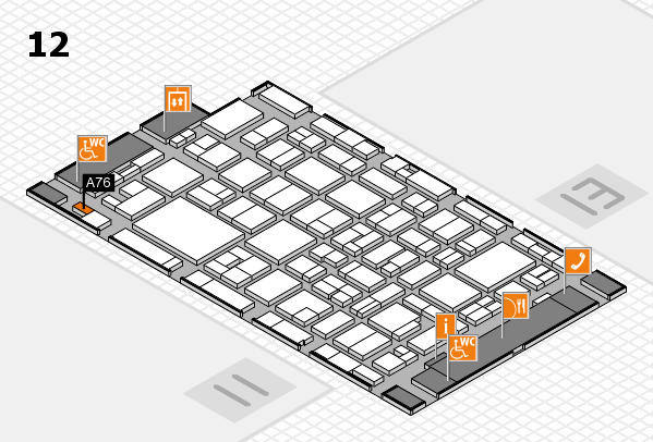MEDICA 2016 hall map (Hall 12): stand A76