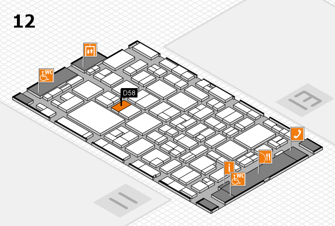 MEDICA 2016 hall map (Hall 12): stand D58