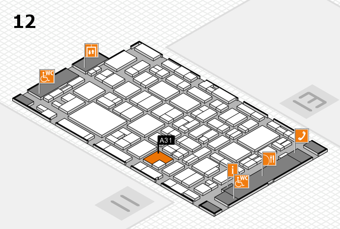 MEDICA 2016 hall map (Hall 12): stand A31