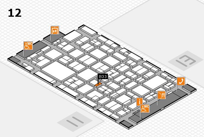 MEDICA 2016 Hallenplan (Halle 12): Stand B33